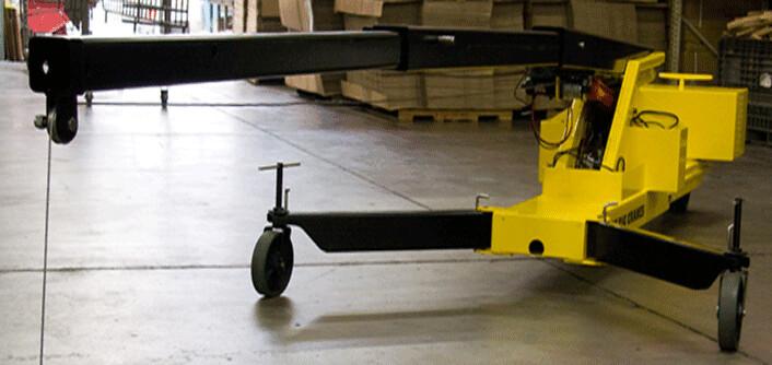 Portable Mini Crane With Hydraulic Boom Floor Cranes