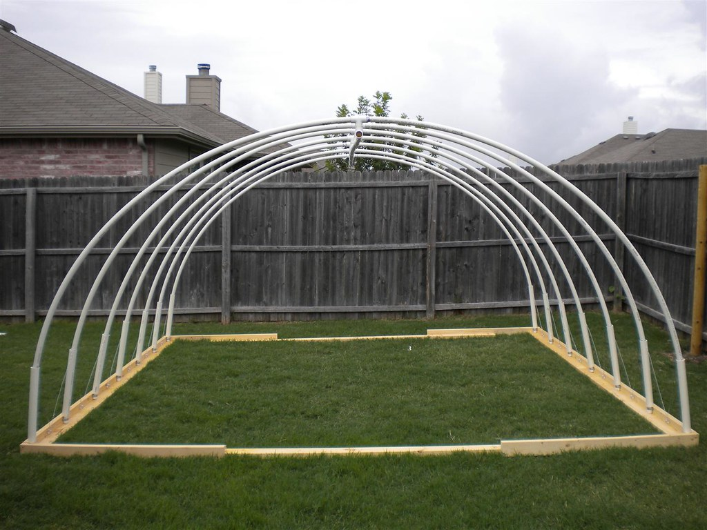 12 x 13 pvc vegetable greenhouse frame by oliversteinke