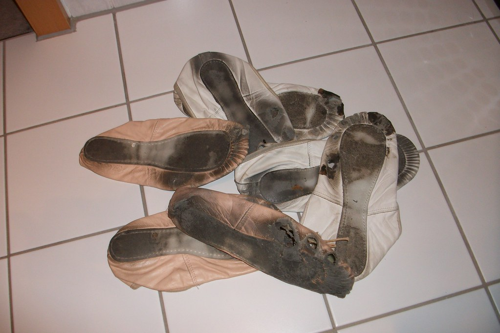 Old Worn Womens Shoes