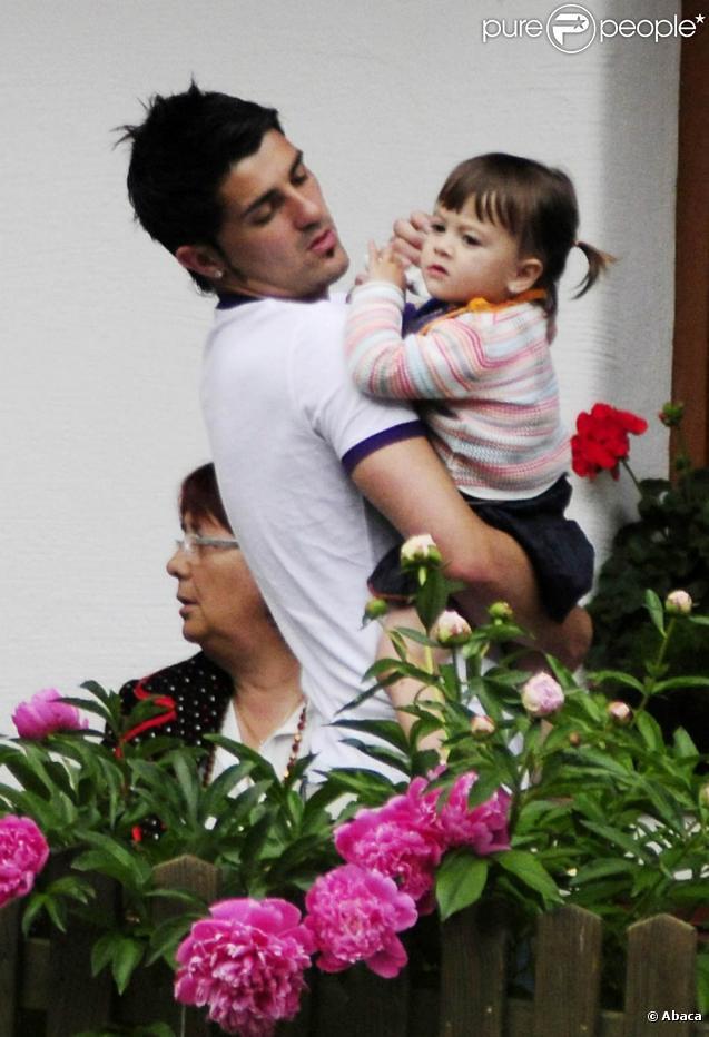 David Villa Daughter David Villa With Daughter