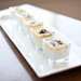 panna cotta | lime-leaf panna cotta with curried orange gelee, blueberries, and curry streusel