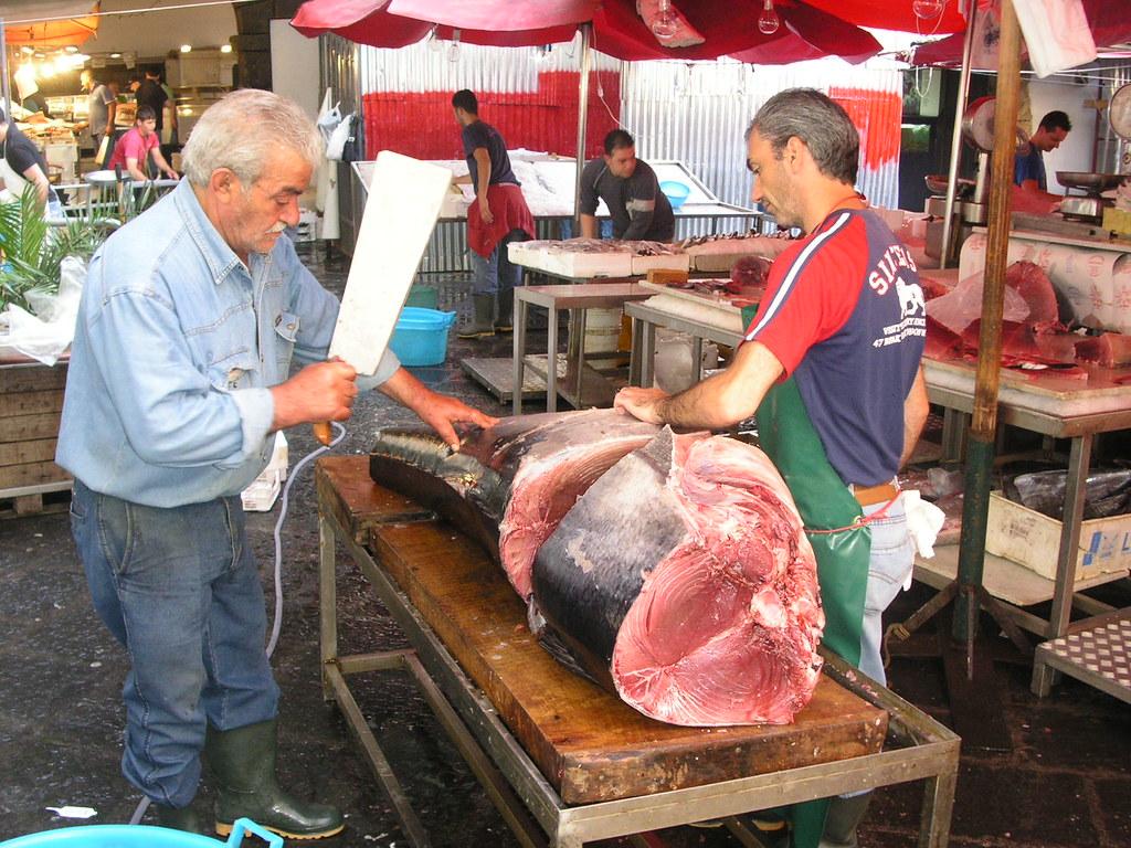 Fish market catania sicily tuna bob marcacci flickr for Bob s fish market