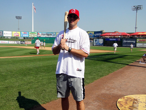 2010 PA Home Run Derby at the Lancaster Barnstormers Single Batter - John Furlong | by PA Breast Cancer Coalition
