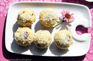 Cherry Coconut Muffins | by CinnamonKitchn