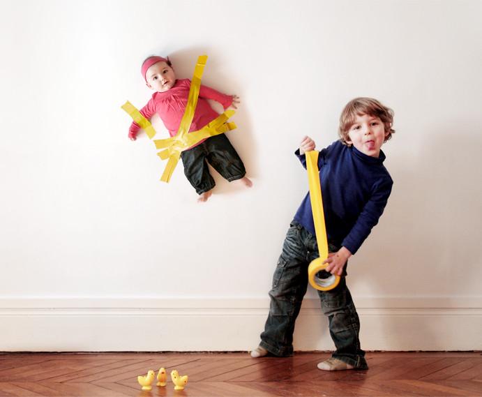 fotomontage baby an die wand kleben hier eine arbeit f r flickr. Black Bedroom Furniture Sets. Home Design Ideas