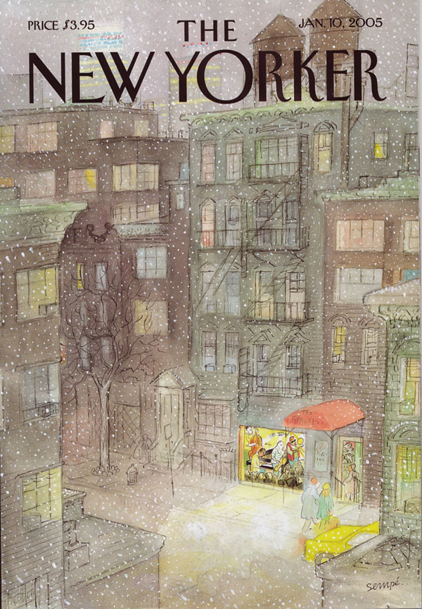 New Yorker cover by J.J Sempe | From the Jan. 10, 2005 ...