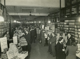 Interior of Angus & Robertson booksellers, Castlereagh Street, Sydney, 1946 / photographer Bradford Pty Ltd | by State Library of New South Wales collection
