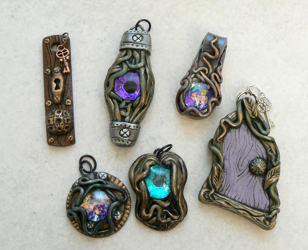 Misc polymer clay pendants steampunk polymer clay pendants flickr misc polymer clay pendants by desert rubble mozeypictures Gallery