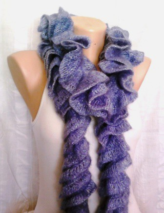 Free Knitting Pattern For Twisted Scarf : Crochet Ruffled Spiral Scarf Please visit my profile for m? Flickr