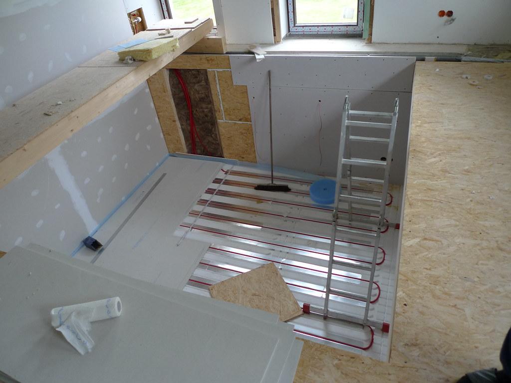 fermacell platten kommen auf die fussbodenerw rmung flickr. Black Bedroom Furniture Sets. Home Design Ideas