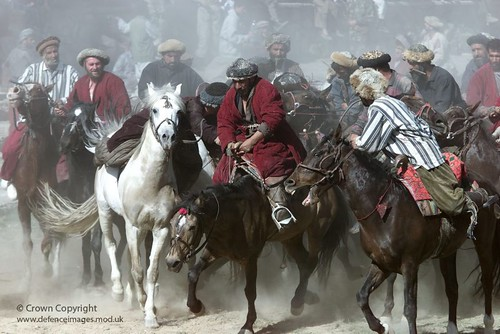 Horsemen taking part in Afghanistan's national sport, Buzkashi | by Defence Images