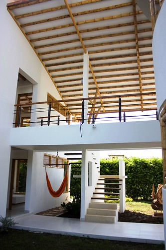 Guadua techo detalle cubierta guadua casa carmen de for Cubiertas para casas
