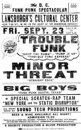 minor threat bog boys trouble funk punk hardcore flyer