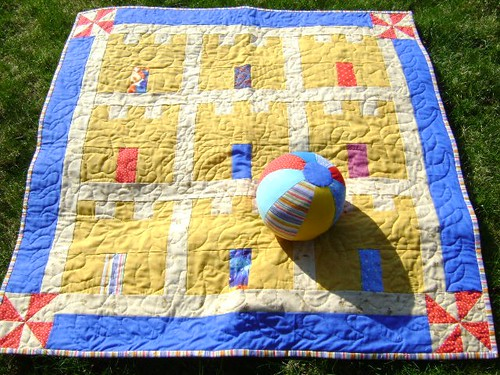 Andi's Baby Sand Castle Quilt and Beach Ball | by Sew Fun by Jennifer Lopez