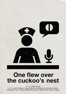 'One flew over the cuckoo's nest' pictogram movie poster | by Viktor Hertz