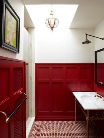 red-wainscoting