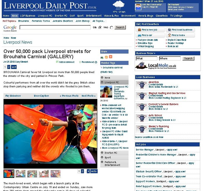 My Appearance In The Liverpool Daily Post That 39 S Me At Bro Flickr