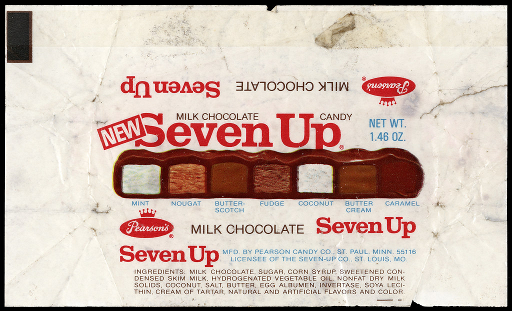 Pearson's - Seven Up [NEW] Candy Bar Wrapper - 1970's