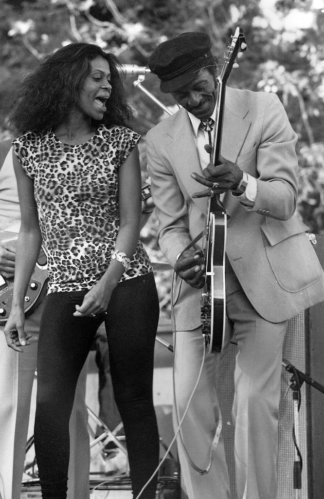 Ingrid Berry and Chuck Berry, Knebworth Jazz Festival 1981