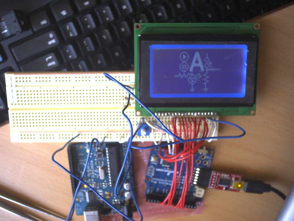 GLCD Test 1 | Testing Arduino Pro and Graphic LCD (ks0108) H