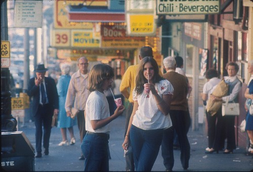Pedestrians on First Avenue, 1972 | by Seattle Municipal Archives