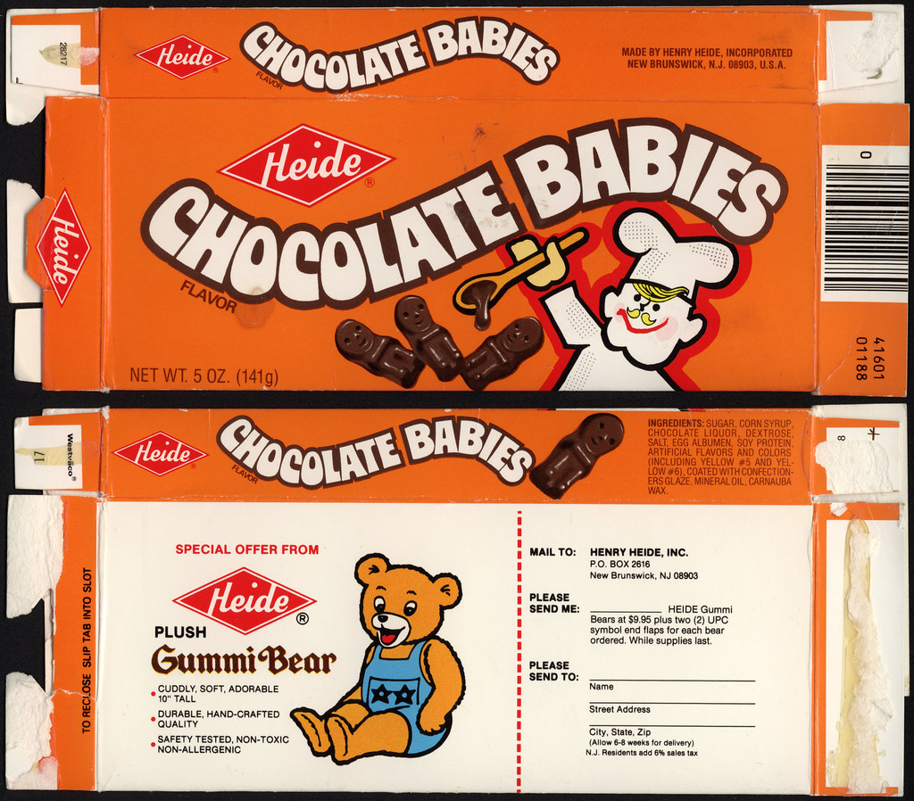 Heide Chocolate Babies Candy Box Plush Gummi Bear Offe