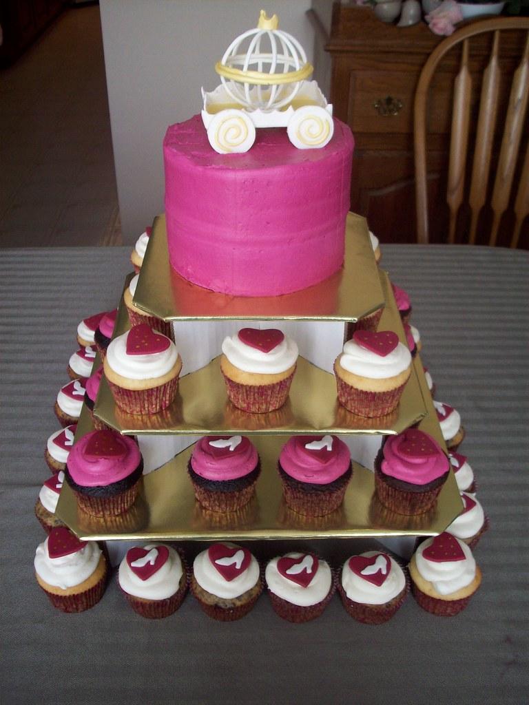bridal shower cupcake tower by kim c nj