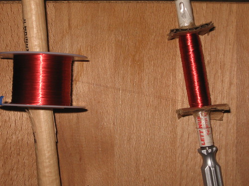 Shakeable dynamo: Spool the magnet wire on to the biro | by Lucky Larry