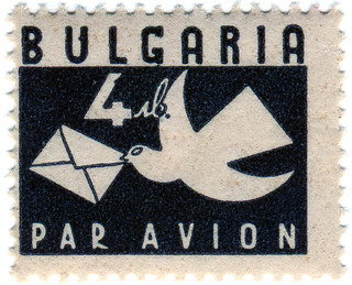 Bulgaria postage stamp: carrier pigeon | by karen horton