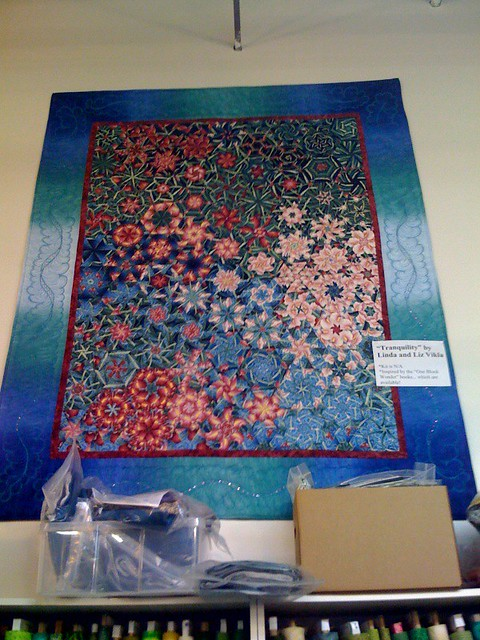 Blue Kaleidoscope Quilt Not My Quilt Seen On Display At