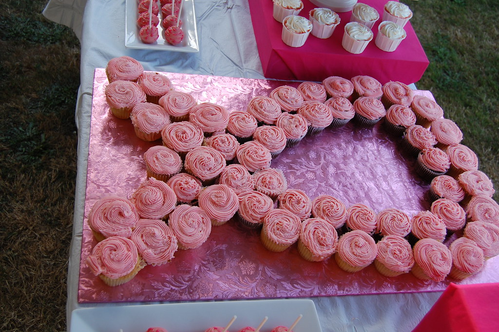 Pink Ribbon Of Cupcakes Relay For Life Fundraiser Candy