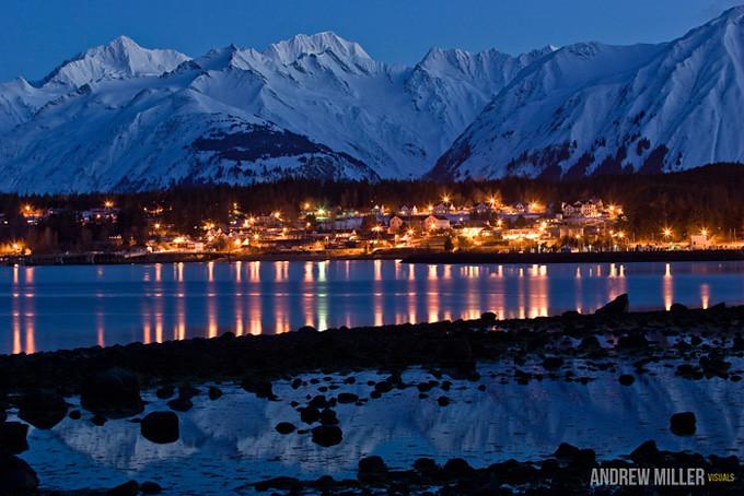 Haines Alaska After Dark A Quiet Evening In Haines