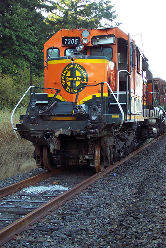 Burned Locomotives after Vader, Washington Accident | by ahockley