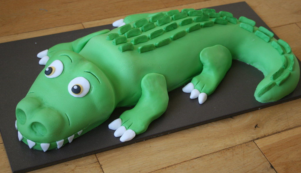 Green Crocodile Cake Sada Ray Flickr