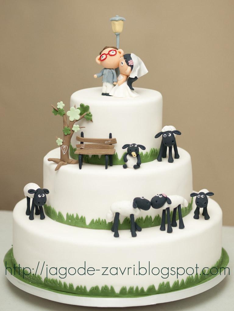 Sheep Wedding Cake Topper