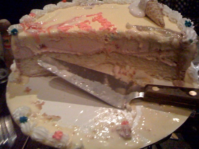 Images Of Eaten Birthday Cake : Beautiful Birthday cake half-eaten Flickr - Photo Sharing!