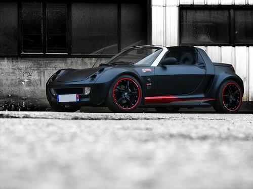 matte black smart roadster  u0026quot smirnoff u0026quot  by ood u0026 39 x racing