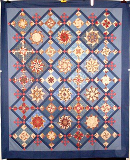 T-Blue and Tan Colonial Pinwheels | by Linda Rotz Miller Quilts & Quilt Tops