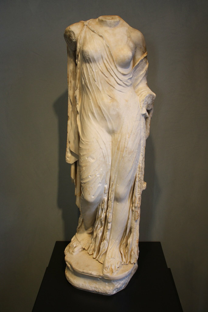 marble statue of aphrodite essay A marble statue thought to be of the greek god dionysus, center, from  a  second-century roman marble copy of a greek statue of aphrodite,.