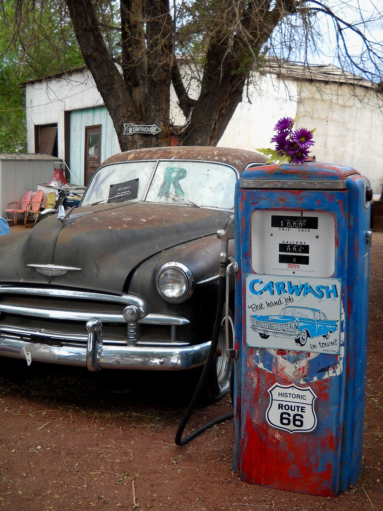 carwash on route 66 | snow cap seligman, az is the birthplac… | flickr