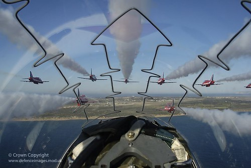 Red Arrows Through A Cockpit Canopy The View From The