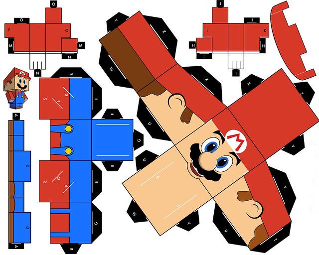 mario de papel para armar | Flickr - Photo Sharing!