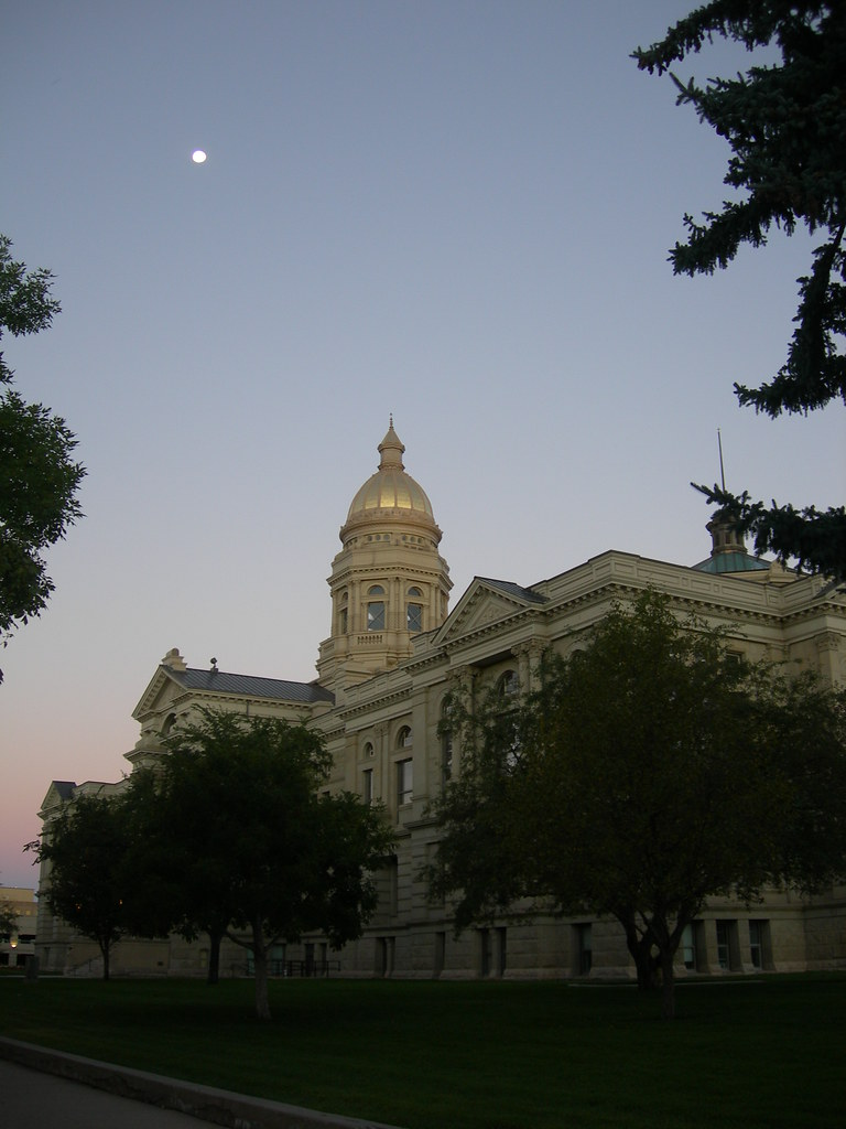 Wyoming State Capitol Sunrise Cheyenne Wyoming The