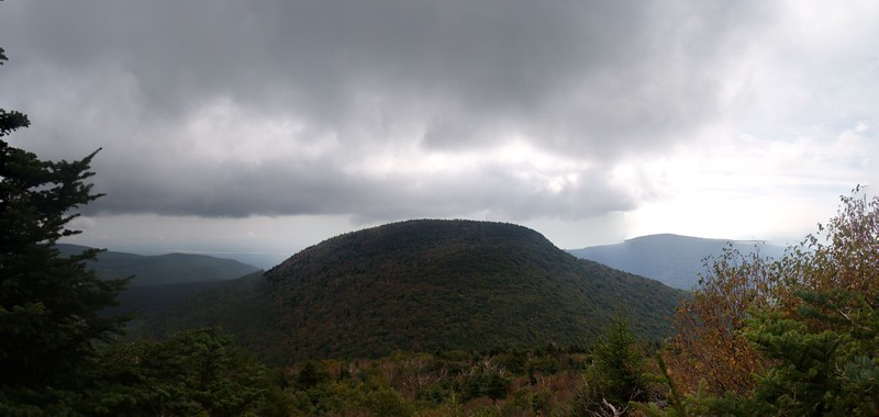 Looking east toward Indian Head Mountain from a viewpoint on Twin Mountain
