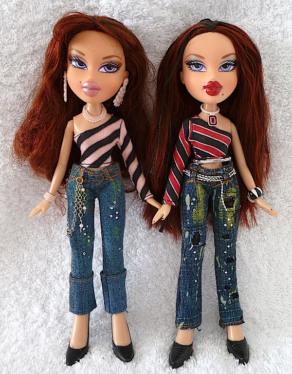 bratz 1st edition twins phoebe and roxxi dolls