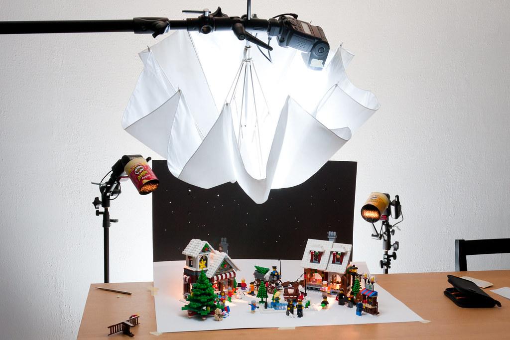Lego Christmas card setup | The setup shot for our Christmas… | Flickr