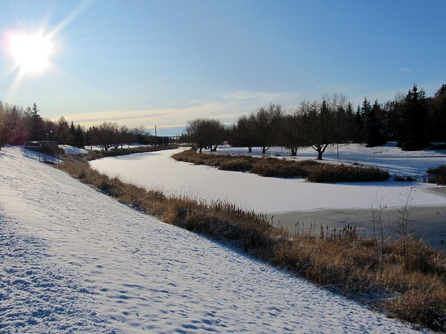 Saint Albert (AB) Canada  city photo : Beautiful Sturgeon River Valley in Winter, St. Albert, Alberta, Canada