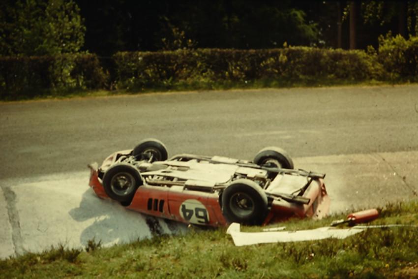 Ferrari Race Car Crash