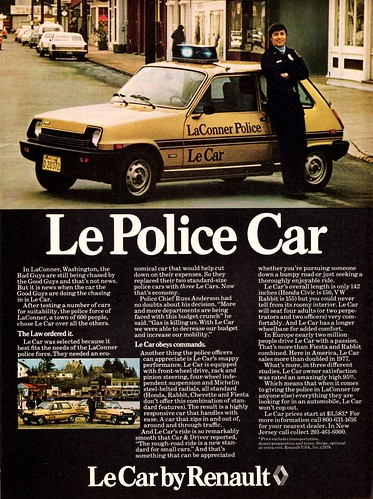 1978 Renault Le Police Car | by aldenjewell