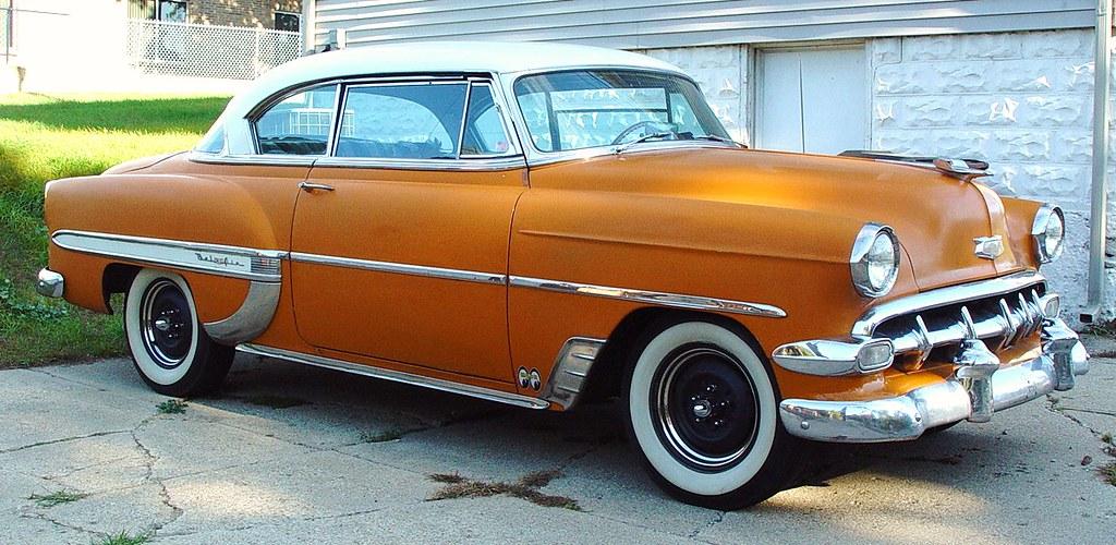 53 Orange Chevrolet Chevy Bel Air Coupe Hamilton Mic